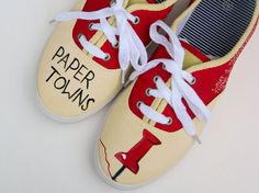 Paper Towns Painted Shoes  Custom  Quotes  by MyRainbowVeins