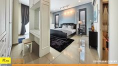 The master bedroom with walk in wardrobe allows you to maximize storage and space use. Walk In Wardrobe, Dining Area, Decorative Items, Creative Ideas, Terrace, Master Bedroom, Advertising, Relax, Cushions