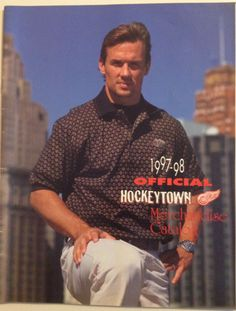 I remember this catalog! Hot Hockey Players, Nhl Players, Hockey Teams, Sports Teams, Steve Yzerman, Hockey Quotes, Detroit Sports, Hockey Mom, Detroit Red Wings