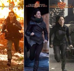 Katniss throughout the years... She's grown up so much! :(