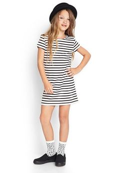 Striped T-Shirt Dress (Kids) - Sale - 2000059202 - Forever 21 UK