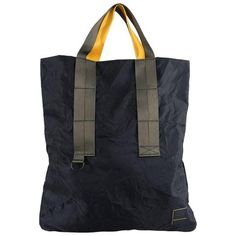 Marni x Porter black nylon tote bag. Yellow and dark taupe handles. Excellent new without. Porter Bag, Nylon Tote Bags, Tote Backpack, Casual Bags, Black Nylons, Handmade Bags, Leather Bag, Marni, Packaging