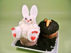 Cute Bunny Cupcake Idea for Easter!