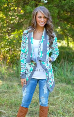 Stay In Mint Cardigan!
