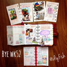 Put pictures right into your planner / journal to capture memories in one place ... Week 52 - Life Mappinv weekly chit chat.