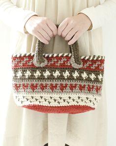 Crochet bag~ No directions. Crochet Quilt, Crochet Handbags, Tapestry Crochet, Crochet Purses, Knit Or Crochet, Crochet Motif, Crochet Hooks, Crochet Bags, Crochet Stitches Patterns