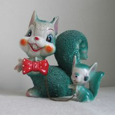 Vintage 1950s Cartoon Cute Squirrels by KitschNCollectibles, $45.00