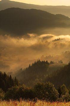 Autumn in Beskid Sadecki