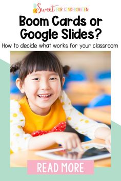 Are you using technology for digital ELA centers with your students more than ever? You've probably tried both Google Slides and Boom Cards then. But, did you know that a majority of teachers said that one platform was easier for students to use? Come learn which digital learning platform is best for your students and check out a bunch of kindergarten center activities that are completely digital!