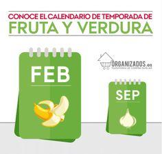 Conoce el calendario de temporada de fruta y verdura