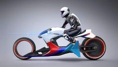 The futuristic BMW i Motorrad Beta|R concept motorbike, inspired by Sci-Fi films Tron, Oblivion etc.    The BMW i Motorrad Beta|R created by Sebastian Martinez, features a hollow chassis design, a hubless wheel on the front, a magnetic