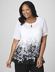 Catherines top. Draws attention to the upper body.