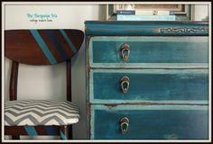The Turquoise Iris: Teal Petite Dresser