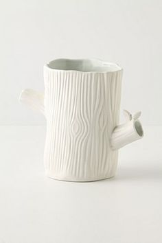 Haha, this looks familiar, my mom and I have also made some ceramic log cups - Wild Woodland Vase from anthropology