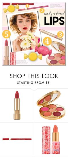 """So Sweet: Candy-Colored Lips"" by a-a-nica ❤ liked on Polyvore featuring beauty, Dolce&Gabbana, tarte, Bourjois, Mally, Color, Beauty, makeup and lips"