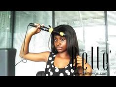 heat your straight full lace wigs to get wavy hair  www bellewigs com