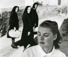"Gordon Parks     Ingrid Bergman During the Filming of Roberto Rossellini's ""Stromboli,"" Italy     1949"
