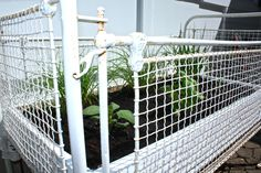 Herb Garden from an Antique Crib... Sometimes, simple ideas are the best don't you think... Last week we were sitting out on the patio talking about wan...