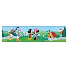 Mickey and Friends Peel and Stick Border, Black