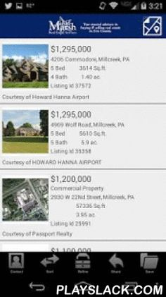 Search Erie Homes  Android App - playslack.com ,  Thanks to hard work, dedication and significant branding efforts, Marsha Marsh Real Estate Services has become one of the most respected and fastest growing real estate companies in the area. With that, they strive to provide the latest in technology to all their clients and potential clients. Search Erie Homes mobile real estate app brings the most accurate and up-to-date real estate information right to your phone! With Search Erie Homes…