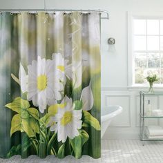 Found it at Wayfair - Fancy Daisy Shower Curtain Accent Furniture, Cool Furniture, Living Room Furniture, Floral Shower Curtains, Shower Curtain Sets, Laundry In Bathroom, Bathroom Sets, Cortina Floral, Bathroom Gallery