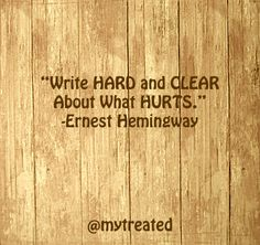 Writing can be a powerful release. Write about what hurts and let your feelings grow. Visit our treatment directory to find help and get started on your recovery journey.  #quotes #inspiration #ernesthemingway #hemingway #prorecovery #edrecovery #eatingdisorder #eatingdisorderrecovery #anorexia #anafamily #anafighter #anorexiarecovery #bulimia #miafamily #bulimiarecovery #ednos #bingeeating #edfighters #edwarrior #edwarriors #edfam #healthybodyimage #tuesday #transformationtuesday
