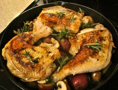 Skillet Rosemary Chicken, simple and delicious!