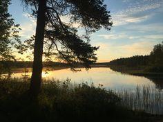 Midnight summer in Jatkojärvi, Hossa, Suomussalmi, Finland. Photo: Mauri Kuorilehto (24.6.2016).