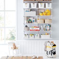 Elfa Classic 4 Kids Playroom Shelving Playroom Ideas In Playroom Shelves, Playroom Furniture, Living Room Shelves, Playroom Ideas, Playroom Design, Playroom Seating, Ikea Playroom, Playroom Table, Toddler Playroom