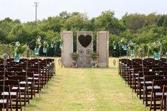 Wedding Altar Inspiration. Florals by Juniper Designs. #bridesofoklahoma #altarinspiration #outdoor #weddinginspiration