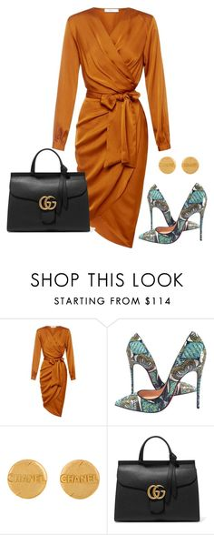 """Classy"" by ashleydomenique ❤ liked on Polyvore featuring Christian Louboutin, Chanel and Gucci"