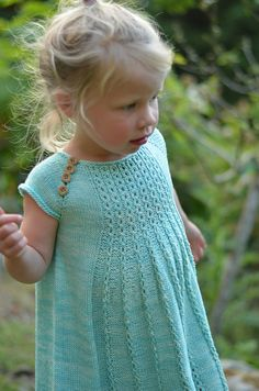 Ravelry: Marian Dress pattern by Taiga Hilliard Designs Knitting For Kids, Baby Knitting Patterns, Crochet For Kids, Knit Crochet, Knit Baby Sweaters, Knitted Baby Clothes, Shrug For Dresses, Knit Baby Dress, Kids Patterns