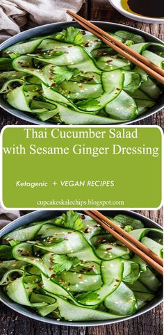 """""""Some of the best pleasures in life are the simple ones, like this refreshing and light Thai Cucumber Salad. It comes together in less than 5 minutes, so you won't have to miss any second"""""""