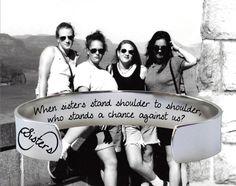 When Sisters Stand Shoulder to Shoulder Bracelet | Sister Gift