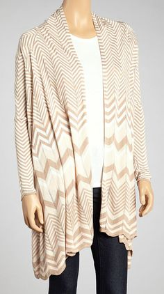 Loving this Oatmeal & Blush Zigzag Open Cardigan on Winter Wardrobe, My Wardrobe, Open Cardigan, Playing Dress Up, Girly Girl, Dress To Impress, Fashion Forward, Autumn Fashion, Cute Outfits