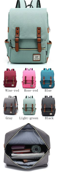 Vintage Canvas Travel Backpck Leisure Backpack&Schoolbag from www.lilyby.com…