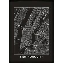 Print in lijst new york city map 50x70