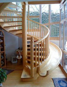 spiral staircase slide!