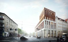 Visualizations for the architectural competition for the court in Wroclaw.