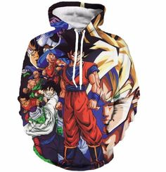 Z-Fighters Dragon Ball Z Heroes Characters Astonishing 3D Hoodie - Saiyan Stuff