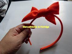 diadema decorada con moño sencillo de tela-fabric bow hair