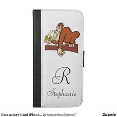 Case galaxy S and IPhone. monogram and Monkey.