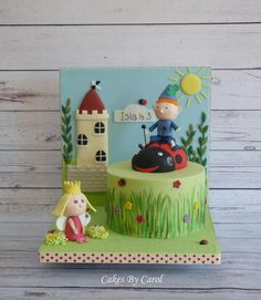 Ben & Holly theme – one of the many cakes from last week. This is Islas 3rd birthday cake that I have made and when her Mum asked for a Ben & Holly theme with Ben sitting on Gaston I thought 'there's not much I can really do with it being...
