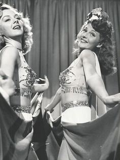 Leslie Brooks and Rita Hayworth in Cover Girl