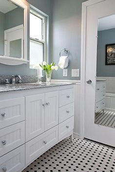 Bathroom Decorating Ideas For Less gorgeous modern-traditional bathroom remodel with frameless glass