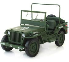 Collections WWII Military Jeep Willis Tactics 1:18 Alloy Diecast Model Car Gifts
