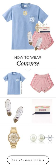 """throwback to the summaaa"" by sydneylawsonn on Polyvore featuring Converse, Michael Kors, Vineyard Vines, BERRICLE and BaubleBar"