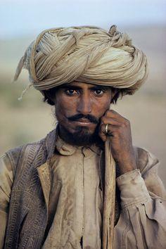 Farmer in Balochistan ~ Looking East by Steve McCurry