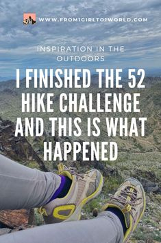The global 52 Hike Challenge encouraged me to hike a sum elevation gain of feet within a year. Find out what I learned when I finished the challenge! Hiking Spots, Go Hiking, Hiking Tips, Hiking Outdoor, Outdoor Travel, Travel Advice, Travel Tips, Travel Destinations, Weeks In A Year
