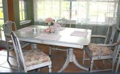 chalk painted duncan phyfe table - Yahoo Image Search Results